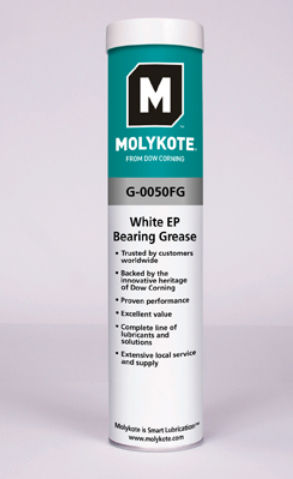 MOLYKOTE G-0050 FM WHITE EP BEARING GREASE 380GR G0050 FOOD GRADE