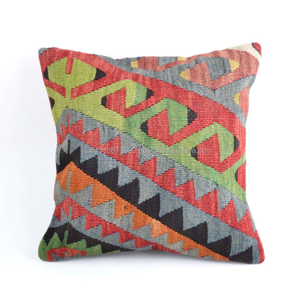 Kilim Pillow Cover Decorative Cushion Cover made in Turkey