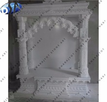 Natural White Marble Mandir for Home Indian Marble Temple