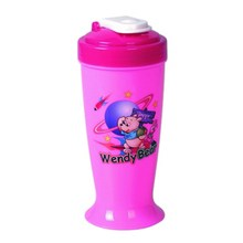 Plastic cup with straw food safe and suitable for kids with character