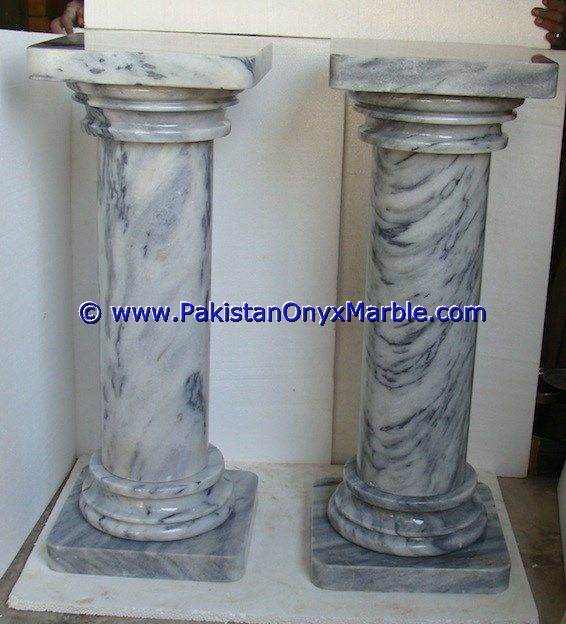 NATURAL COLOR BADAL GRAY MARBLE PEDESTALS