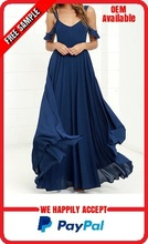 Elegant navy blue maxi dress manufacturer