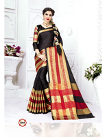 Indian Ethnic Designer Sari Blouse Polyester Dobby Silk Fabric Wholesale Saree