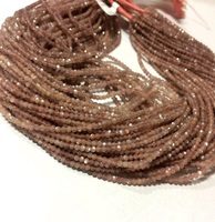 Stone 2mm Chocolate Brown Moonstone Micro Faceted Gemstone Beads
