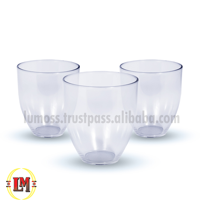 Clear Stemless Wine Drinking Glass/Tumbler - 300ml