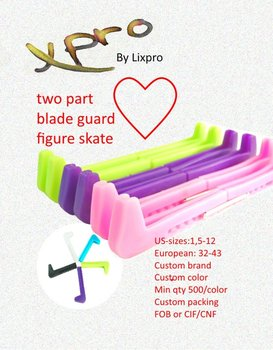 Two part blade guard figure skate / Plastic Protector two part / Ice skate protector / Professional figure skate