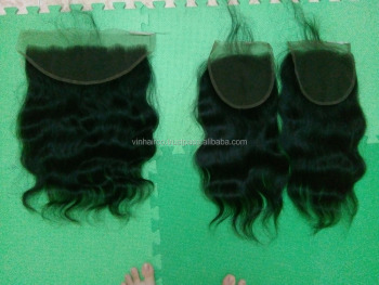 Best quality Lace frontal 100% top quality virgin hair, 100% unprocessed raw human hair, natural hairline