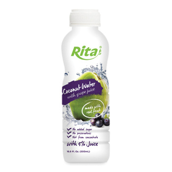 Coconut Water with Grape Juice