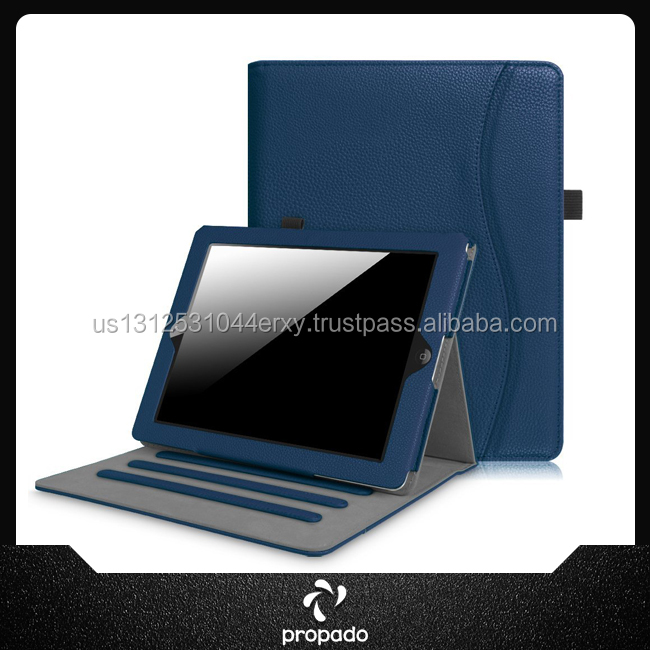 High Quality Custom Solid Color Pu Leather Stand Case For Ipad 2 3 4