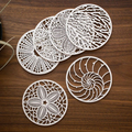 White Painted Mdf Wooden Laser Cut Wholesalers | Coaster for Copper Mugs