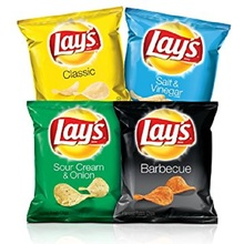 Lays Potato Chips All Flavours and Sizes Available