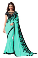 Exclusive Designer Hot Green Saree