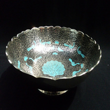 black colored finished brass antique bowl