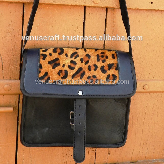 Real goat leather small size ladies handbag and sling bag