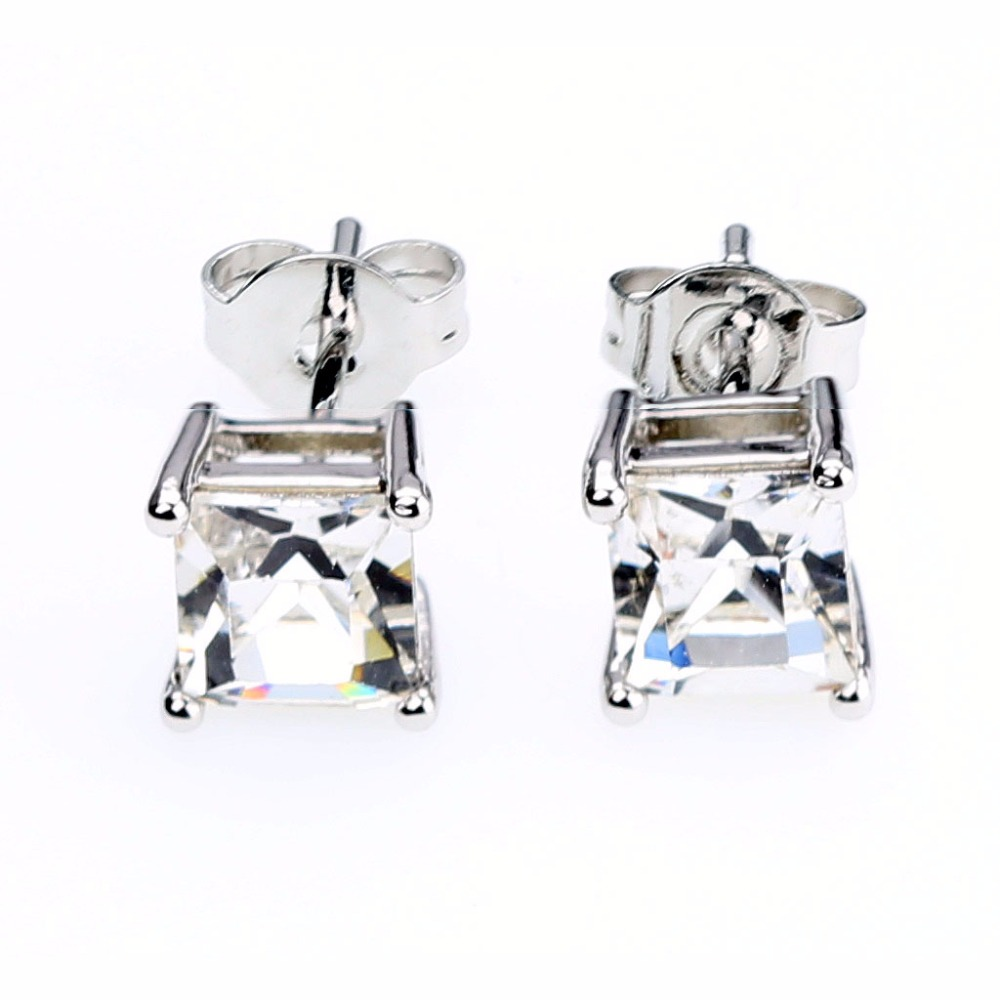 Princess Cut Earrings ( Crystals from Swarovski )