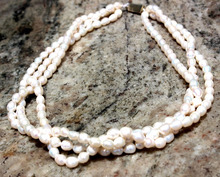 Multi Strand Freshwater Pearl Indian Mala Necklace Latest design Beads Necklace