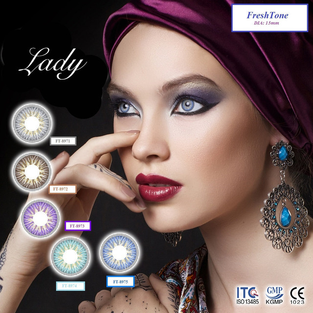 Freshtone charming Lady 3 tone cheap cosmetic color contact lens from South Korea
