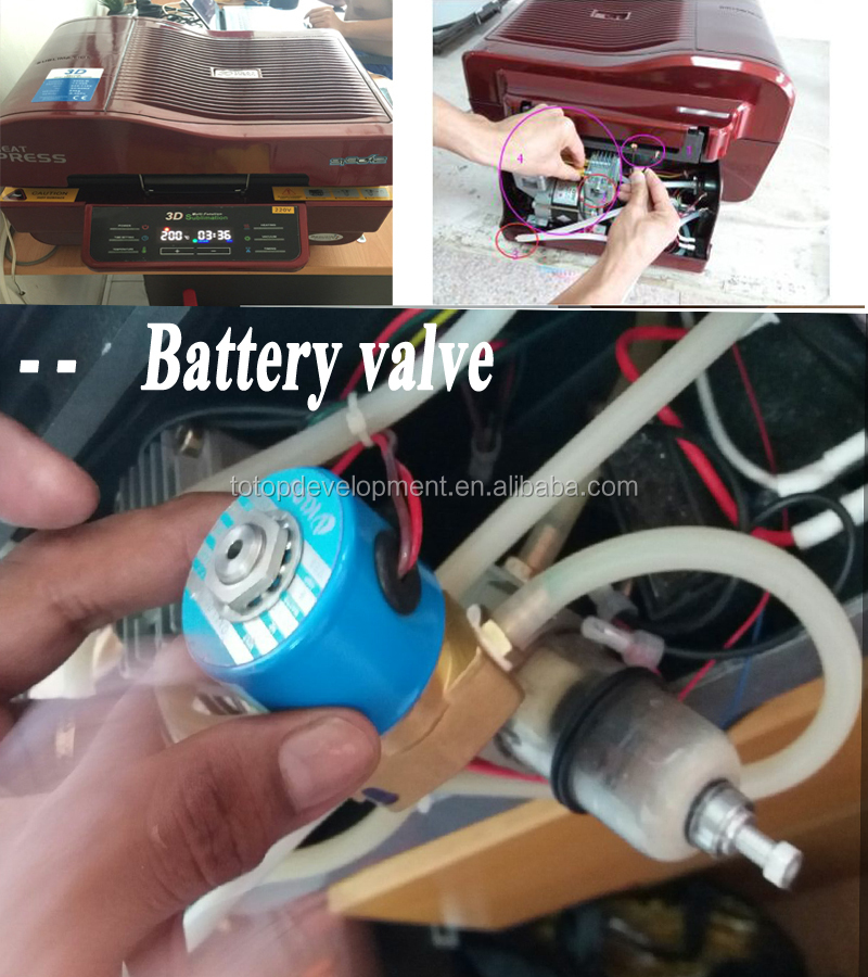 3D accesory replacement ,Battery valve for ST -3042 sublimation machine