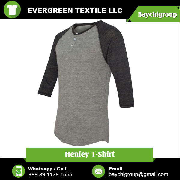 Classic Men's Cotton Henley T Shirt for Wholesale Buyer