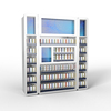 Cigarette Display Rack Pusher + Side Unit with Advertisement Display Illuminated Frame