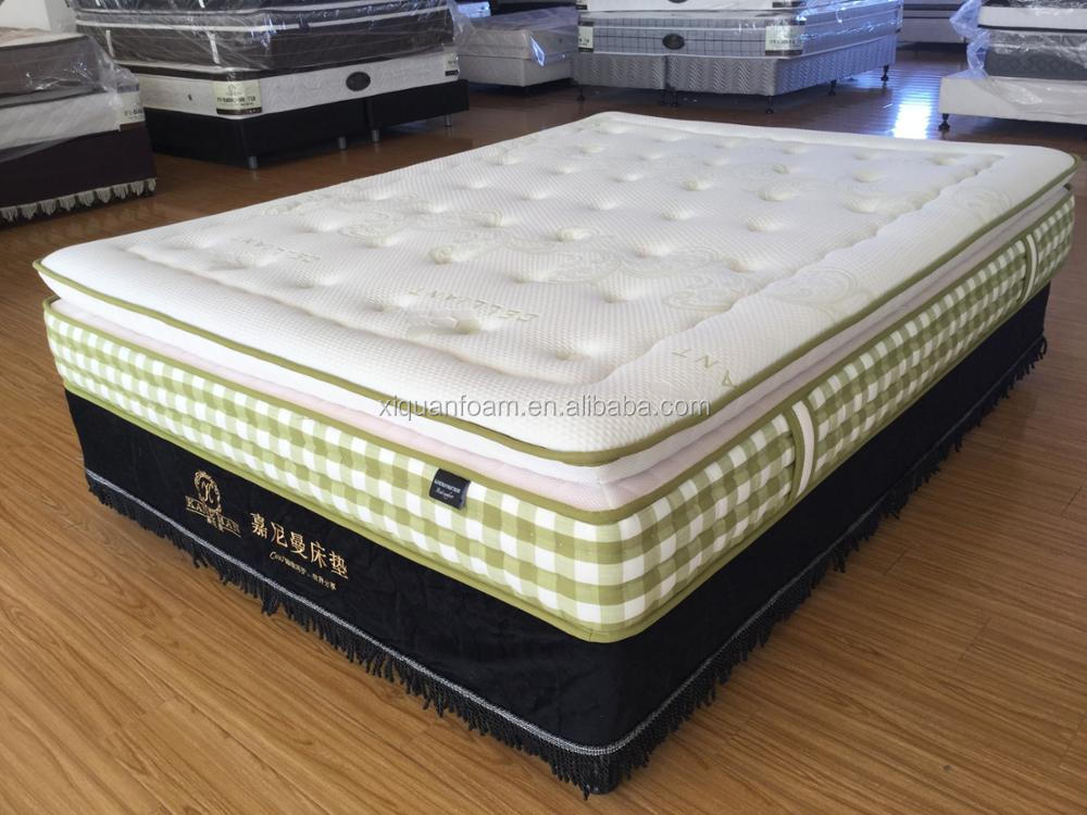 Customized home use vacuum compressed box package queen size pocket spring mattress