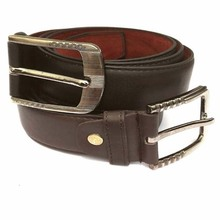 high quality discounted genuine cowhide leather belt removable double single buckle belt