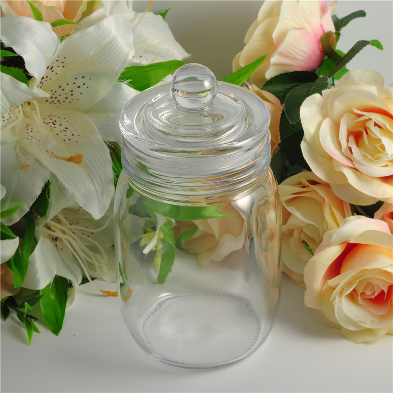 Hot sales quality glass cookie jar
