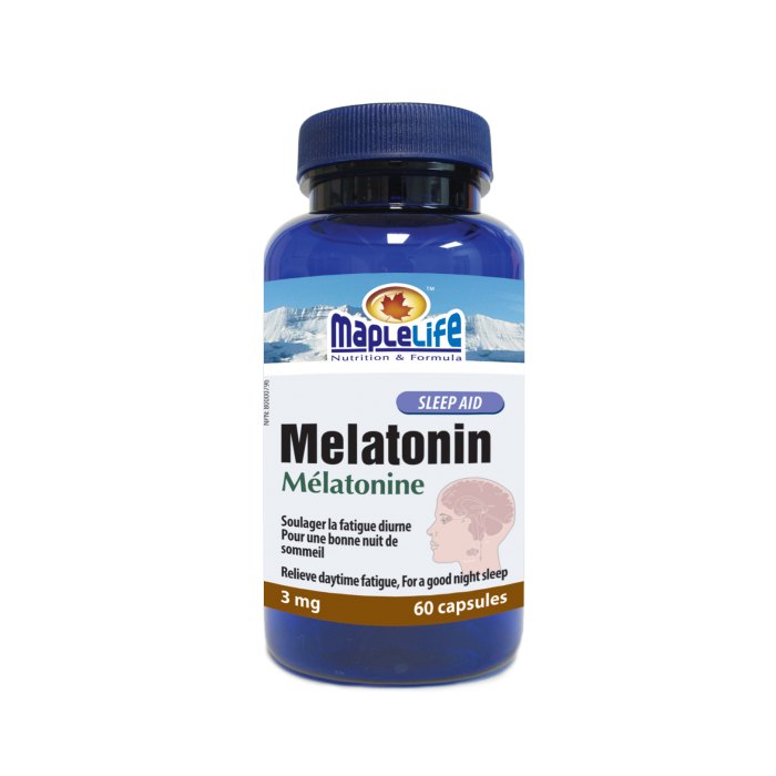 CANADA GMP MANUFACTURER 60 CAPSULES MELATONIN 3MG FOR WELL SLEEP
