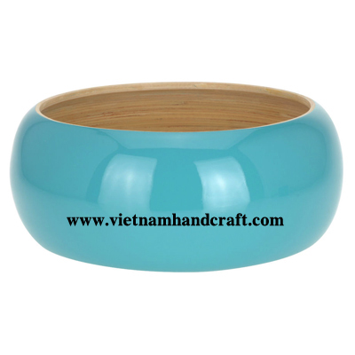 Quality eco-friendly traditionally hand finished vietnamese coiled bamboo office accents