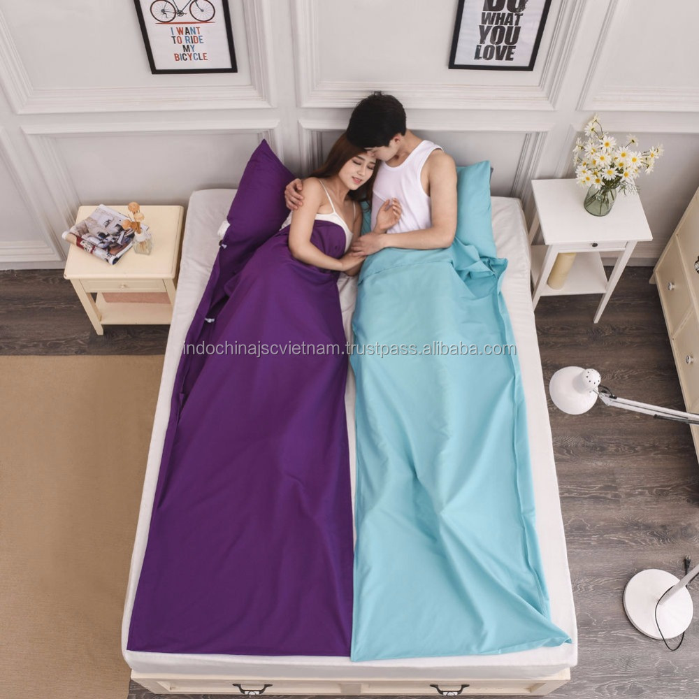 Soft silk sleeping bag for travel/ single camping sleeping bags