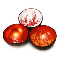 Hot product to sell, natural coconut shell bowl wholesale lacquer coconut bowl with spoon