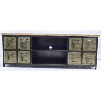 Metal Drawer Industrial Tv Stand