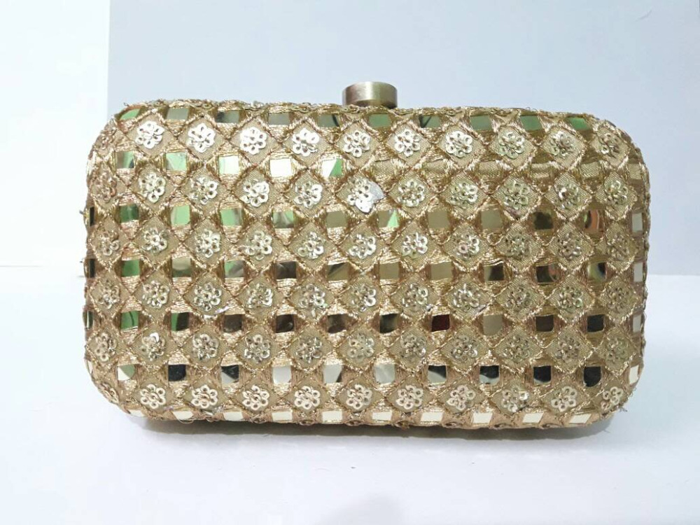 Golden Party Clutch