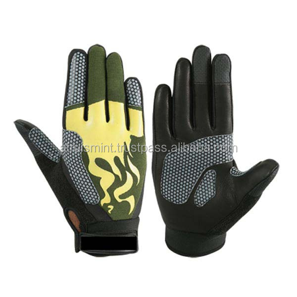 Top quality motorcycle riding gloves leather