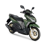 Automatic motorcycle 2017 Hondx Click 125i Alloy Wheel Green colour