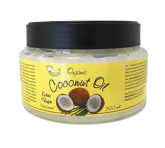 Organic Extra Virgin Cold Pressed Coconut Oil Cosmetics 300 ml (AMRITA or your PL)