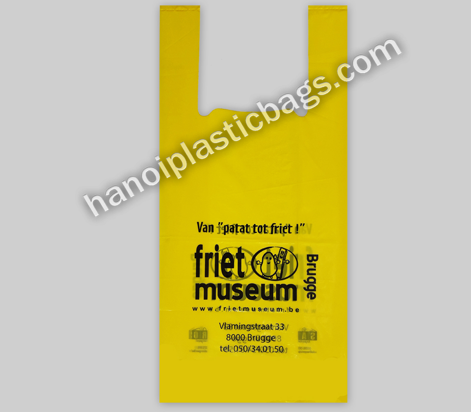 good price custom vest handle carrier bag singlet plastic bag T-shirt bag