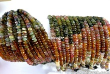 Loose Gemstone Strand Tourmaline 13 inch Assorted Stone Beads 3-4mm