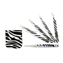 Black zebra printing Volume Lash Extension Tweezers/Professional Eyelash Extension Tweezers /Volume lash tweezers