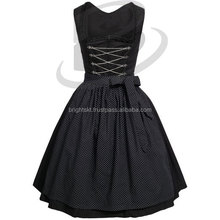 Black Classical Dirndl Trachten German Oktoberfest Bavarian Traditional Dirndl For Women (Traditional Bavaria Dirndls)