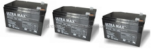 3 X BATTERIES FOR SAKURA ELECTRIC BIKE - ULTRA MAX 12V 14AH RECHARGEABLE BATTERY