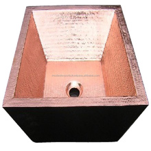 100 % copper double wall square wash basin