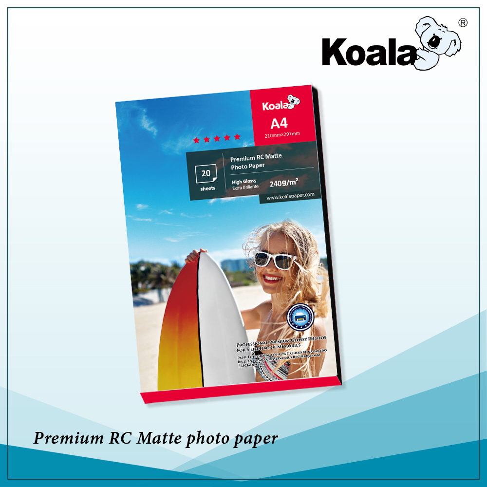 Koala Ultra crystal glossy photo paper, 115g - 260g premium high glossy inkjet paper