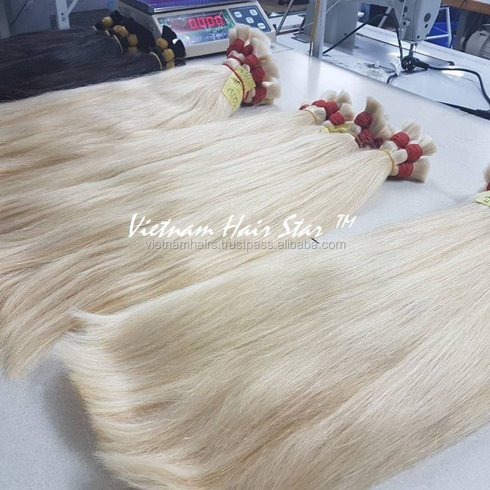 Colored Raw Natural Human Hair 100% Remy Cuticle Aligned Hair Best Seller Vietnam Hair Bulk Volos Cheveux  Cabelo humano