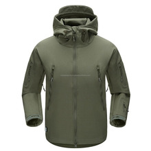 Outdoor waterproof Army Green soft shell jacket