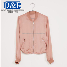 Manufacturing Price Wholesale Prince Premium Quality Autumn Spring OEM Customized Ladies Bomber Jacket