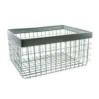 Green Large Industrial Metal Wire Baskets