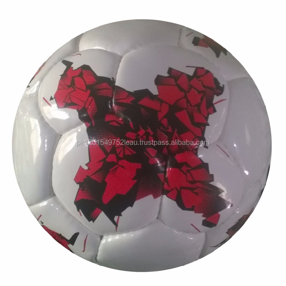 Map Printed On White PU Shine 1.5 mm Football/Soccer Ball 32 Panels Size 5 (Official X Match Ball)