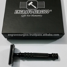 Black and gold Plated Shaving razor safety razor with customized packaging and customized design