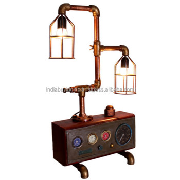 industrial furniture india Upcycled Lamp with Vintage Galvanized